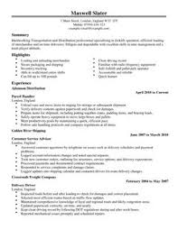 Driver Resume Sample Doc by Transportation Cv Examples Cv Templates Livecareer