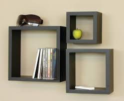 Wall Bookshelves by Large Wooden Wall Shelves Nucleus Home