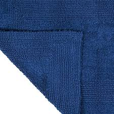 Navy Bath Mat Lavish Home 100 Cotton Reversible Bath Rug Navy 24x60