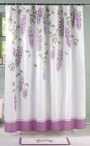 Kas Shower Curtain Purple Floral Wisteria Flower Bathroom Shower Curtain Rug Set