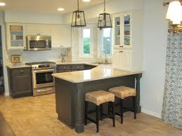 kitchen room dark kitchen cabinets with light island as the