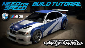 need for speed bmw need for speed 2015 most wanted bmw m3 gtr build tutorial how