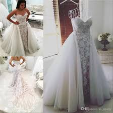 wedding dress with detachable retro middle east mermaid overskirts wedding dresses detachable