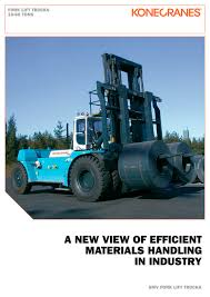 fork lift trucks 10 60 tons konecranes pdf catalogue
