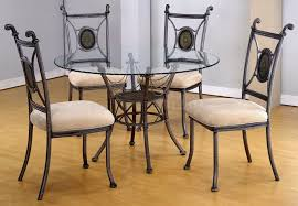 Rod Iron Dining Chairs Splendid Glass Top Dining Room Sets With Wrought Iron Dining Table