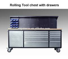 Rolling Tool Chest Work Bench Professional Stainless Steel Rolling Tool Box Chest Garage Tool