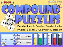 ionic and covalent compound puzzles for the physical science and