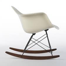 herman miller original eames brilliant white rar eiffel arm chair