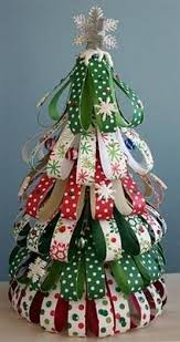 How To Make A Christmas Tree Star For Top - ribbon christmas tree i u0027d do red white silver and would find