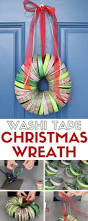how to make a washi tape christmas wreath the crafty blog stalker