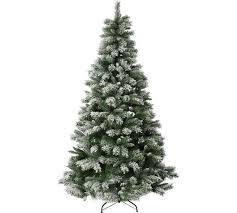 7ft christmas tree buy collection 7ft snow covered christmas tree green at argos co