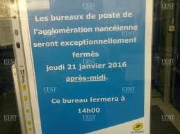 bureau de poste nancy edition de nancy ville nancy bureaux de poste fermés ce jeudi