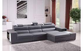 bonded leather sectional sofa divani casa polaris mini contemporary gray bonded leather sectional