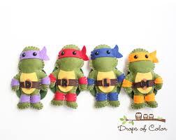 tmnt mutant turtles plush toys four felt plush