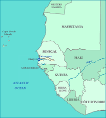 africa map gambia map of the gambia
