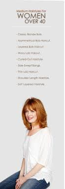 asymmetrical haircuts for women over 40 with fine har 9 latest medium hairstyles for women over 40 with images
