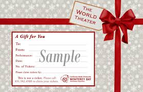 give the gift of world class theater gift certificates available