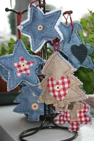 homemade denim christmas tree decorations i have a pile of old