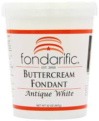 amazon com fondarific buttercream antique white fondant 2