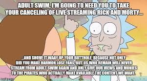 Adult Swim Meme - adult swim rick and morty meme imgflip