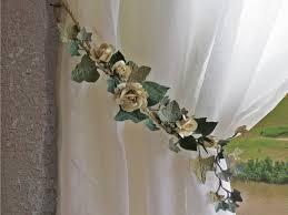 Diy Curtain Tiebacks Dining Curtain Tie Backus Shabby Sheet Roses Wedding Shabby
