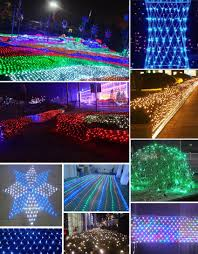 outdoor led net lights decorations led net string lights