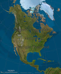 Physical Map Of North America by Graphatlascom America North America Satellite Wall Map Mapscom