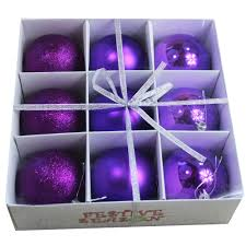 wholesale 9pk all purple 80mm ornaments buy