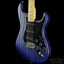 fender usa limited edition sandblasted stratocaster sapphire blue