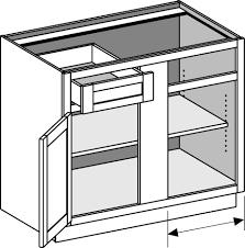 kitchen blind corner base cabinet dimensions 24 inch deep wall