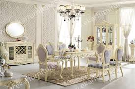 Italian Dining Room Furniture Dining Table Set Classic White Italian Dining Table 6 Chairs In