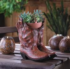 wholesale classic cowboy boots planter western theme wedding