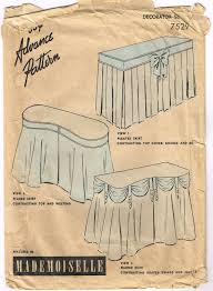 Pleated Table Covers Price Cut Vintage 1940s Dressing Table Skirt Por Faithfulfabrics