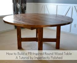 diy round kitchen table round wood table tutorial with diy round dining table plan