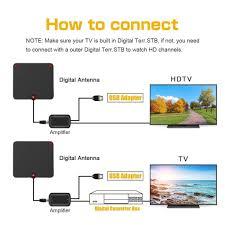 Hd Antenna Map Smallrt Tv Indoor Hdtv Digital Antenna Smallrt Small Rocket Tv Box