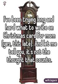 ve been trying long and hard what to write on christmas card for