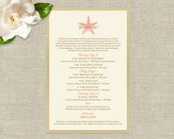 destination wedding itinerary plush paper design abby justin wedding accents
