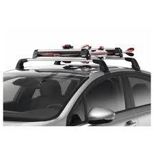 porta sci auto sulle barre portatutto per 4 paia di sci originale peugeot 308
