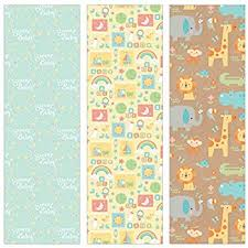 baby gift wrap baby elephants gift wrapping roll 24 x 15 baby