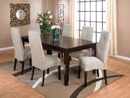 dakota 7 piece dining package w linen chairs linens accent