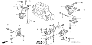 honda crv parts 2004 honda cr v 5 door lx 4wd ka 5at engine mounts