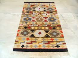 Dhurrie Runner Rugs Aztec Anatolian Kilim Rug Knotted Carpet H Discovered