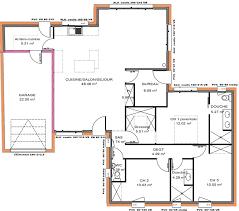 plan maison 3 chambres plain pied avant projets de construction de maison en loire atlantique