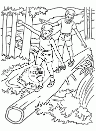 forest in summer coloring page for kids seasons coloring pages