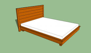bed frame easy amp cheap diy hardwood king platform bed plans