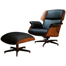 drexel declaration leather lounge chair and ottoman at 1stdibs