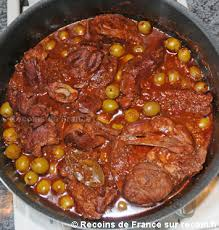 cuisine corse veau aux olives recette sauté de veau aux olives sur recoin fr