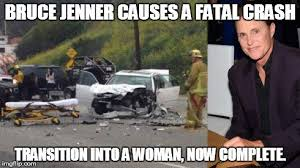 Car Wreck Meme - bruce jenner involved in a car crash