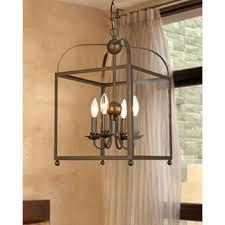 Lantern Chandelier Lighting Bronze 4 Light Foyer Hanging Lantern Free Shipping Today