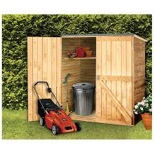 magnificent outdoor storage idea with lacquered cedar shed design